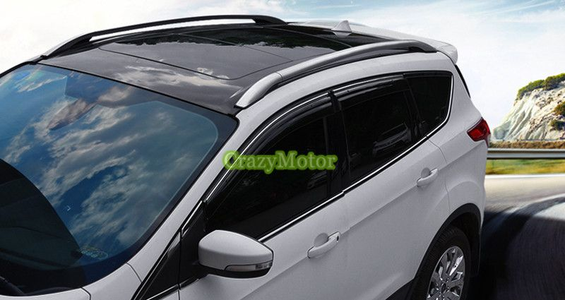 Silver Color Roof Rails Rack Luggage Carrier Bars For Ford Escape Kuga 2013 2014 2015 2016 2017 Luggage Carrier Roof Rails Ford Escape