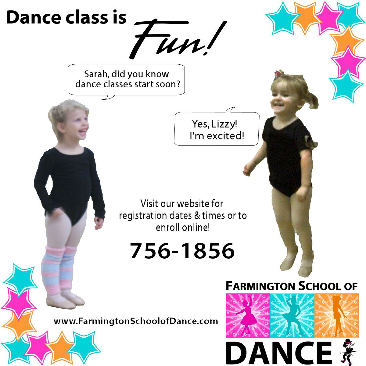 Register Next Week On Tuesday Wednesday Or Thursday 3 30 6 30pm Pin For A Chance To Win See Our Facebook Promotional Photo School Farmington Dance Class