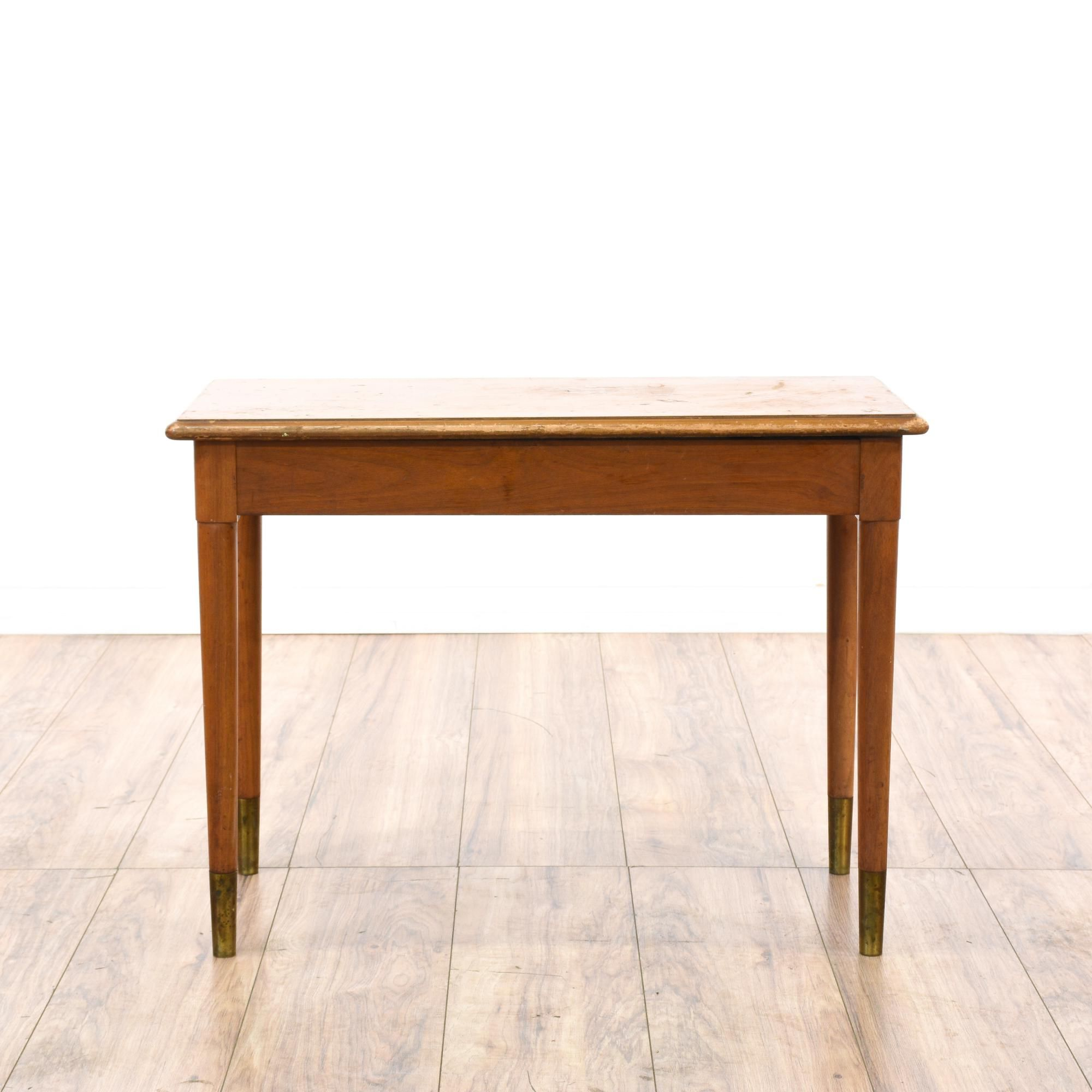 This Mid Century Modern Storage Bench Is Featured In A Solid Wood With A  Glossy Maple