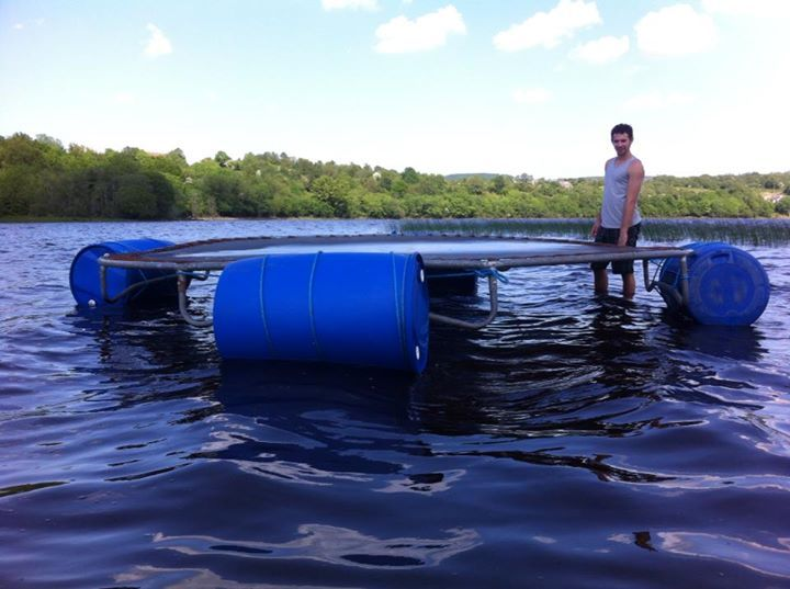 Homemade irish style water Trampoline