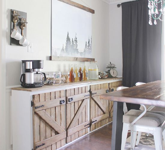 Upcycled Kitchen Cabinets: Upcycled Barnwood Style Cabinet
