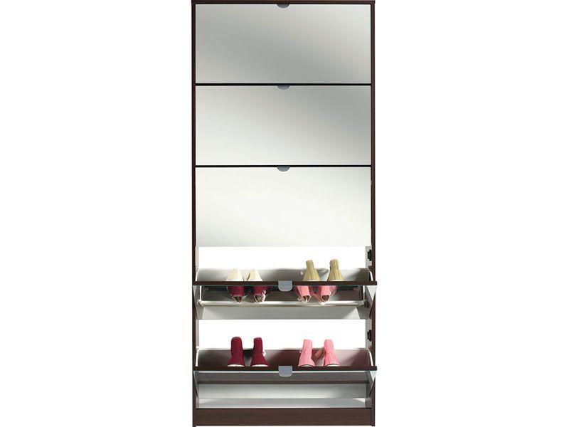 impressionnant meuble chaussures miroir conforama