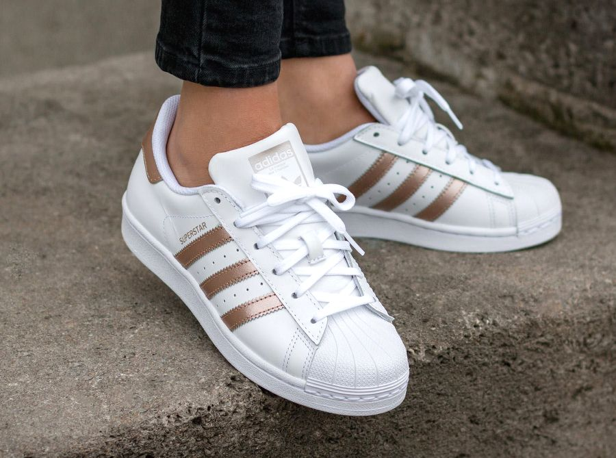 Adidas Superstar 80's W 'Metallic Red Bronze Stripes ...