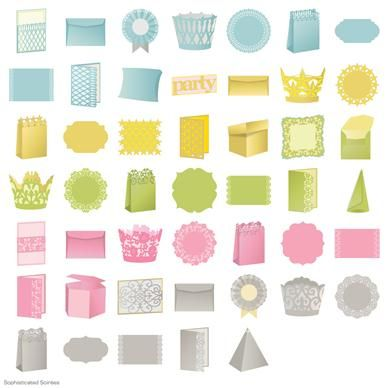 Sophisticated Soirees Digital Set by Anna Griffen (want all 3 of her new cricut cartridges).