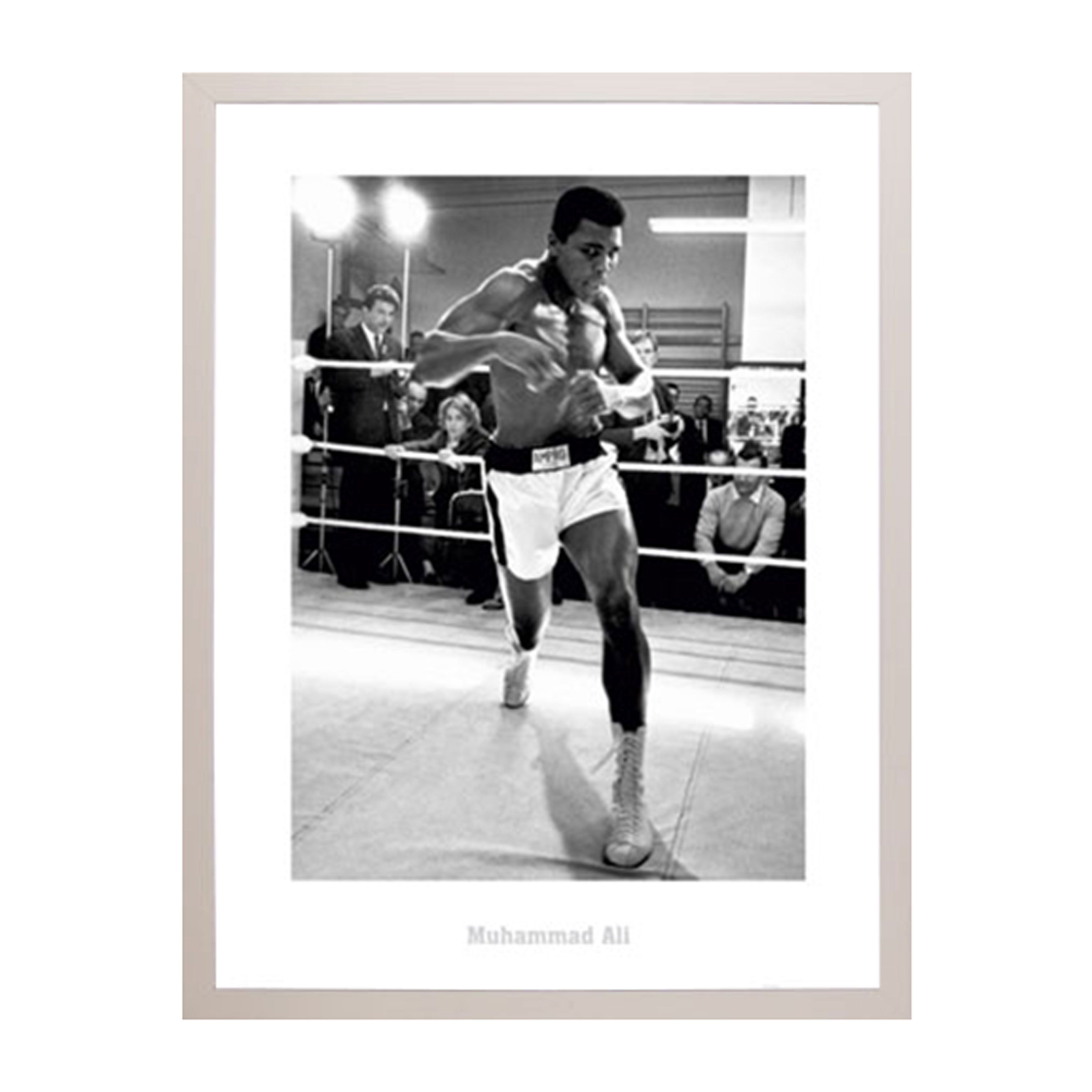 Usa Muhammad Ali Training Print With Wood Frame