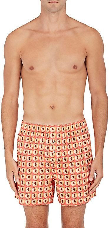 fb3853b4ace41 Paul Smith Men's Peach-Print Cotton Poplin Boxers | Products ...