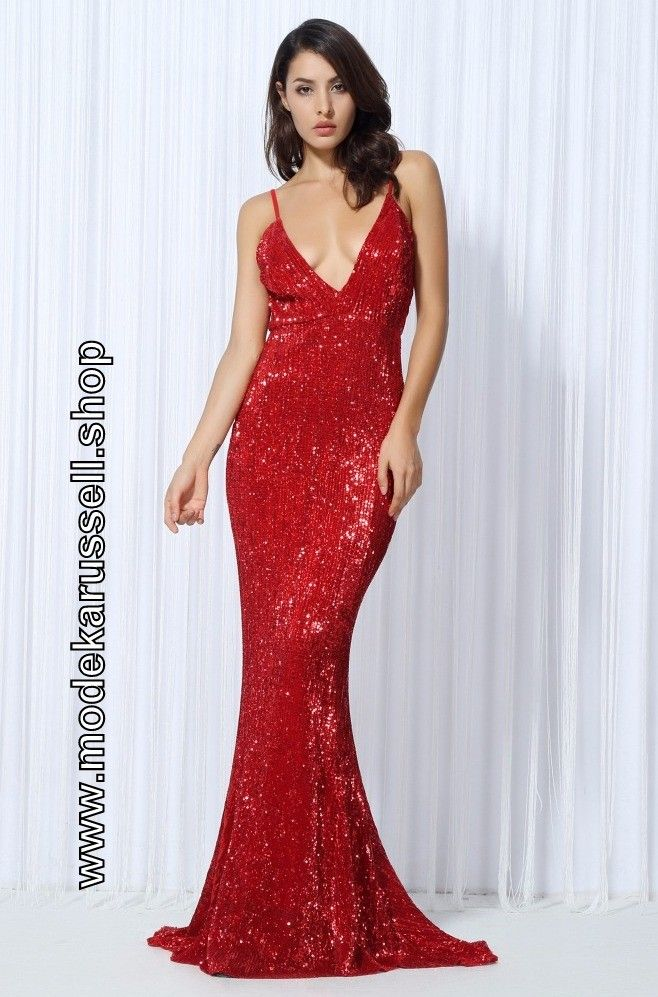 Abendkleid rot glitzer