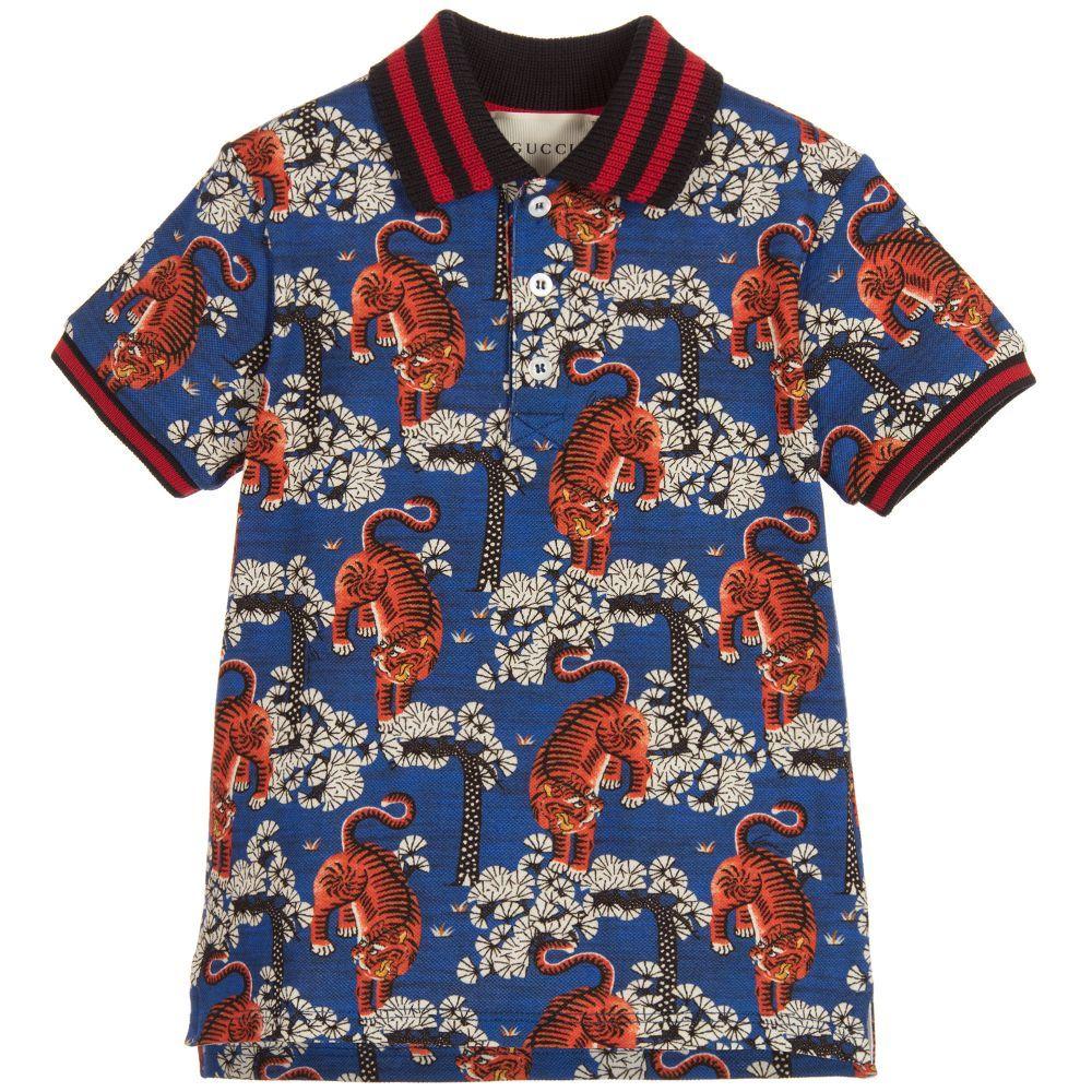 2c88e44a0 Gucci - Boys Bengal Tiger Polo Shirt