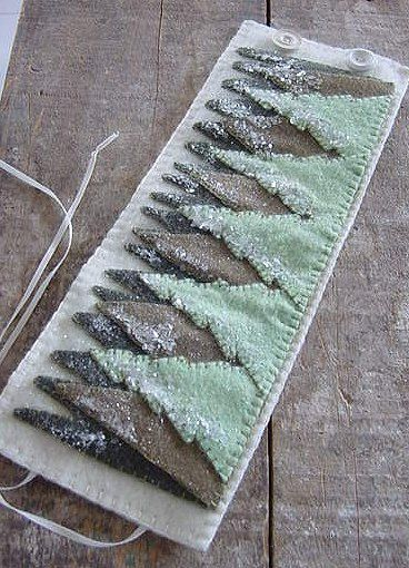 Primitive Traditional Colonial Wool Penny Rug Style Christmas Tree Candle Wrap SOCOFG Team  CAST Team. $9.95, via Etsy.