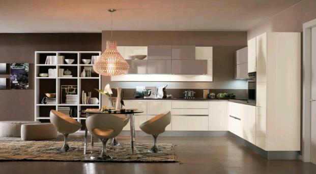 abbinamento arredi bianco e tortora con pareti marrone | i colori ... - Pareti Cucina Color Tortora