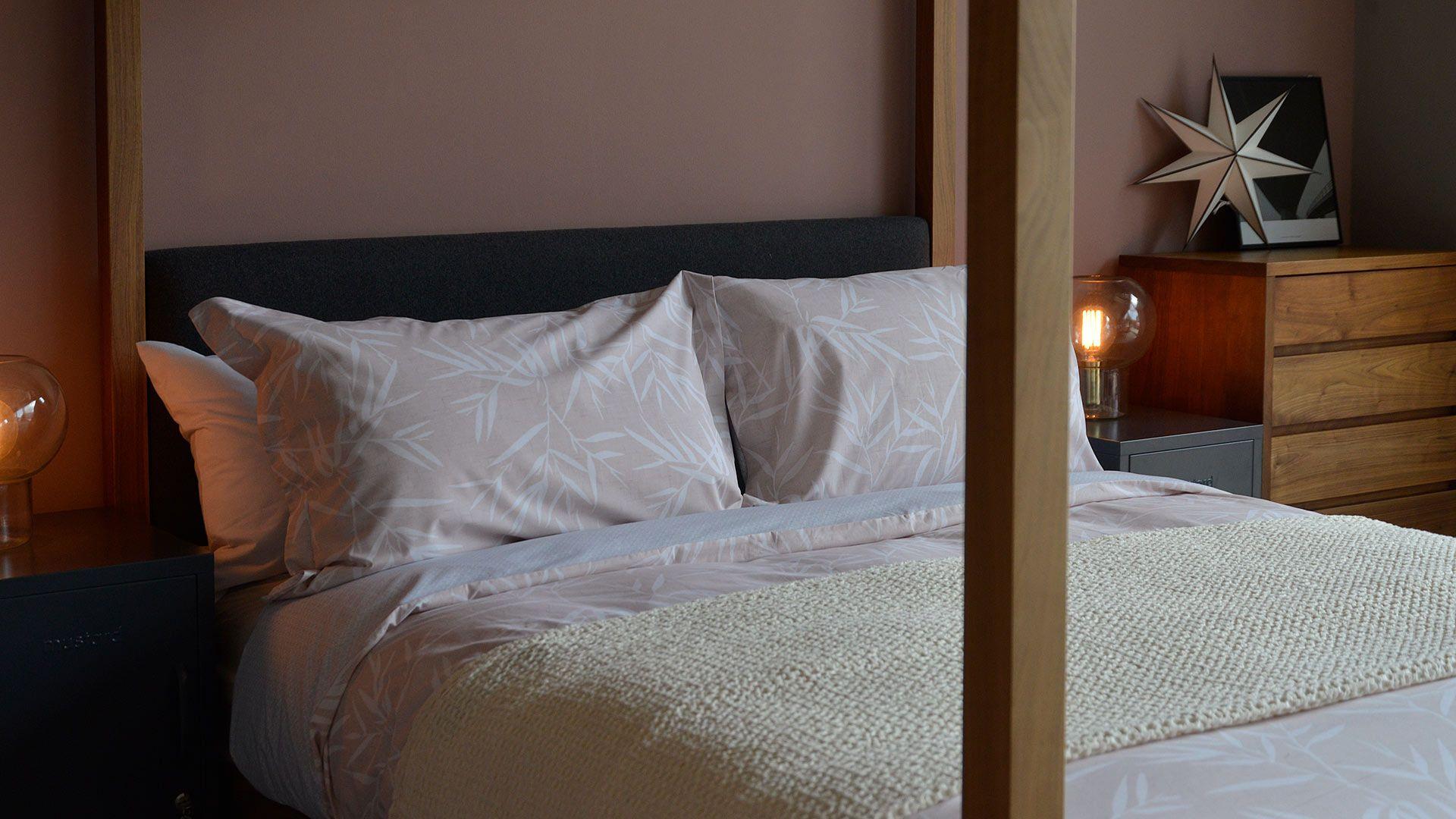 Bamboo Printed Duvet Set Blush Pink Duvet sets, King
