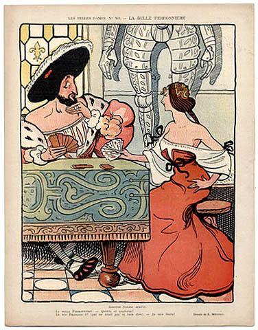LE RIRE 1898 N°203 Charles Léandre, Général Zurlinden, Dreyfus Affair, La Belle Ferronnière & Francois I Vintage high fashion magazine   Hpr...