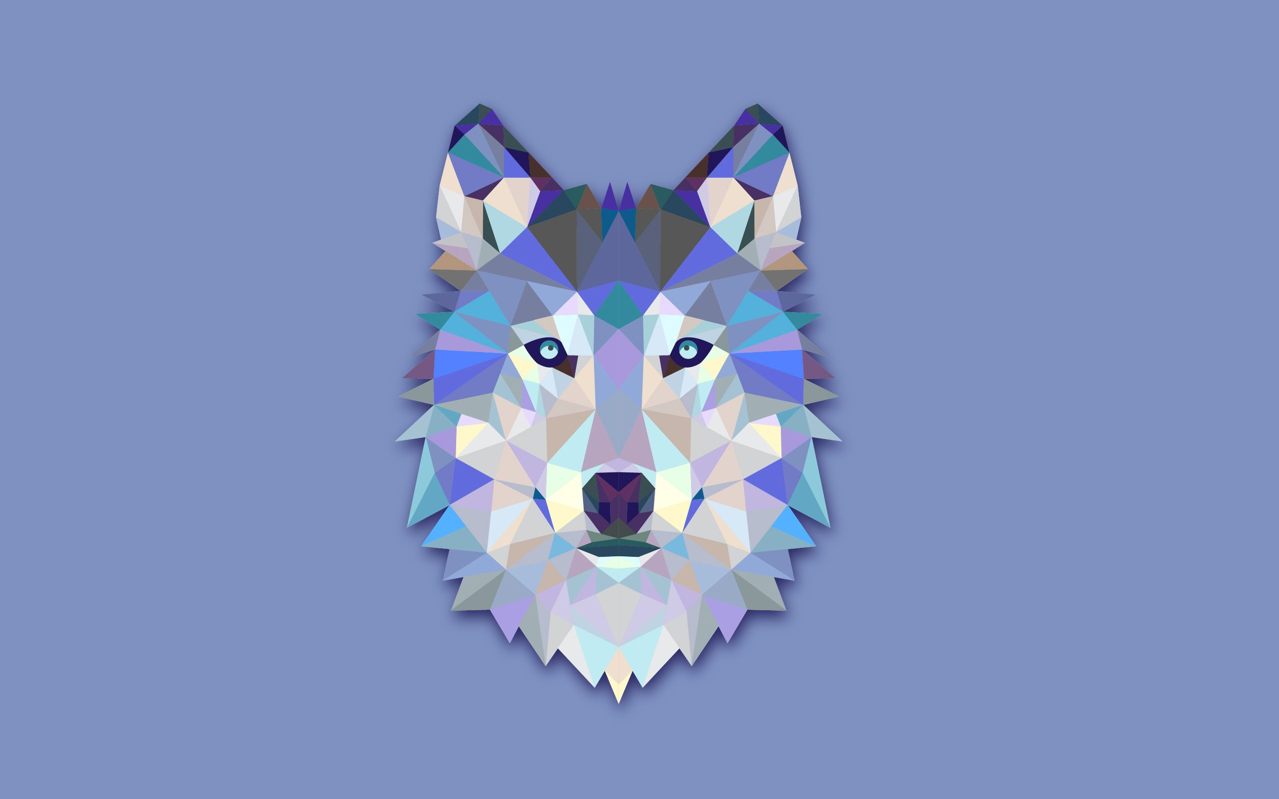 Geometric Animal Wallpaper 74 Images: The Wolf's Head Abstract Digital Art Is A HD Wallpaper