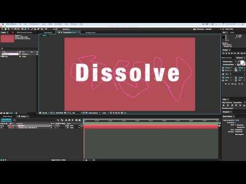 Mask Dissolve: Quick tip for a unique after effects dissolve