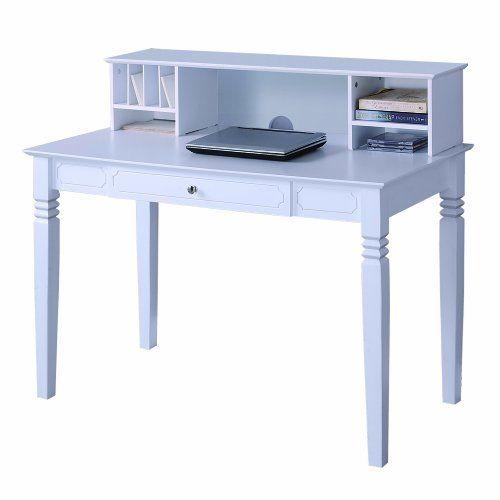 All Wood Office Desk: WE Furniture Elegant Solid Wood Desk W/ Hutch