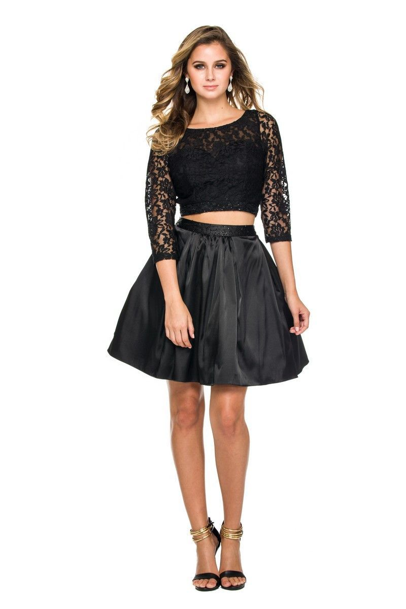 Elegant gorgeous two piece homecoming dresses formal cocktail cute
