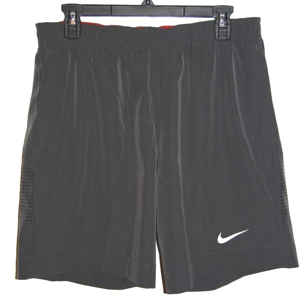 Nike mens large drifit athletic gray shorts pockets