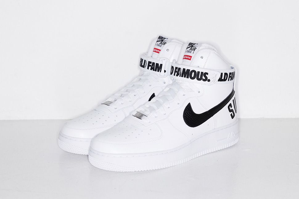 WomenMen For Sale Supreme X Nike Air Force 1 High White