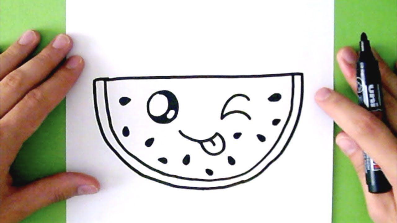 How to draw a cute watermelon super easy r kodzie o for Super easy drawings