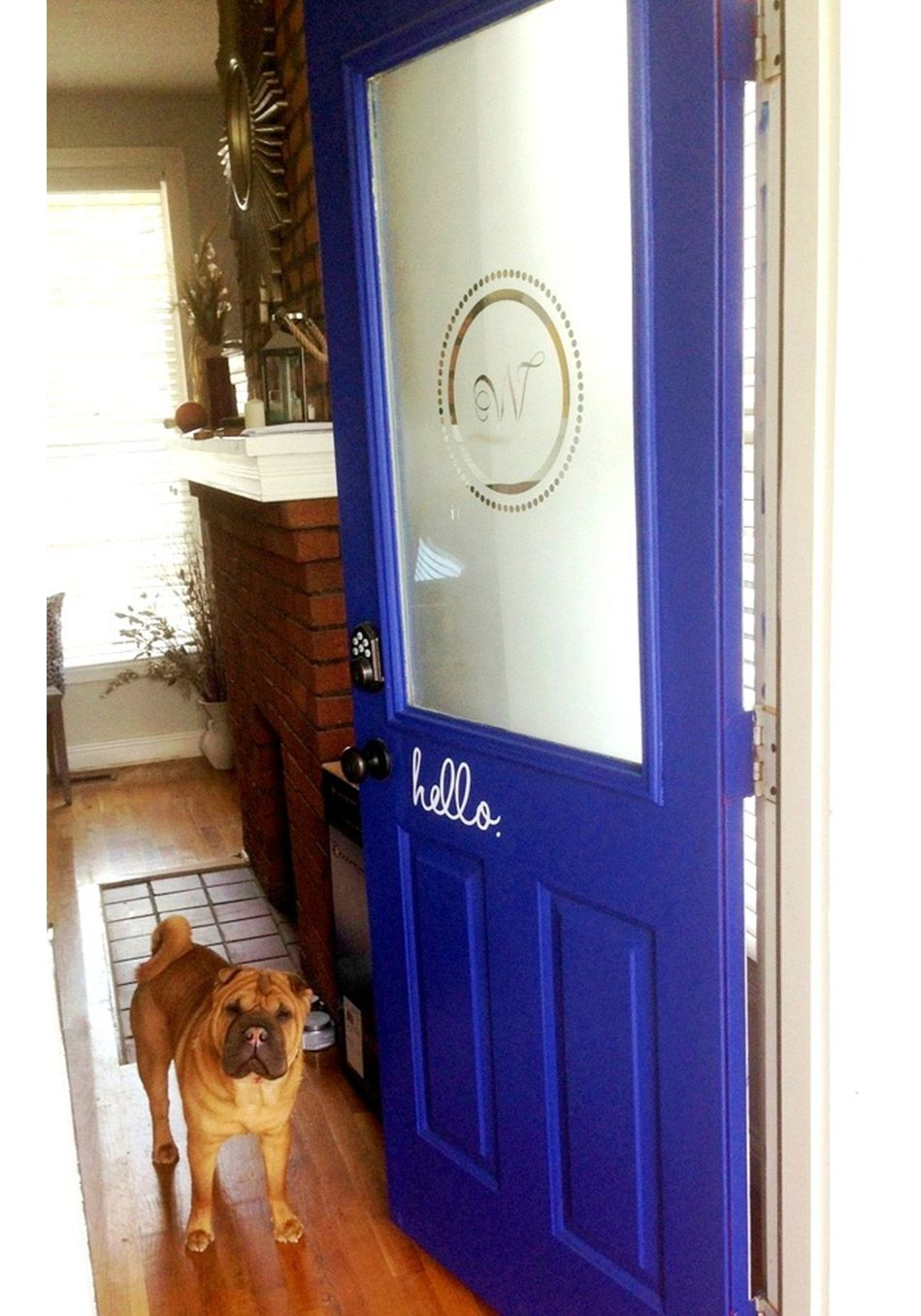 10 Of The Prettiest Front Doors Frosted Glass Door Front Door Makeover Painted Front Doors