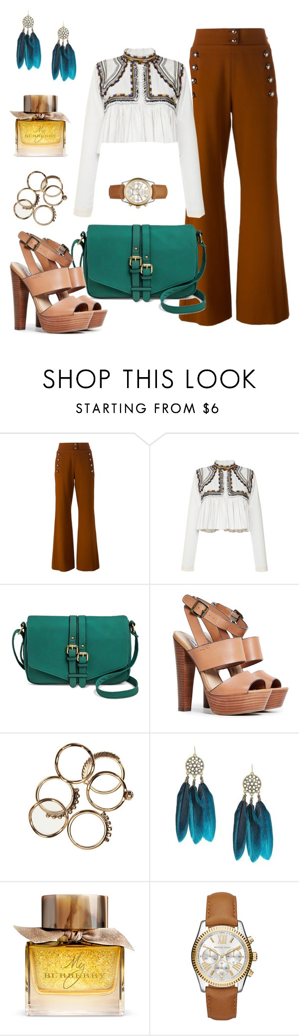 """Texas"" by yinggao ❤ liked on Polyvore featuring Chloé, Isabel Marant, Merona, Steve Madden, Burberry, Michael Kors, women's clothing, women, female and woman"
