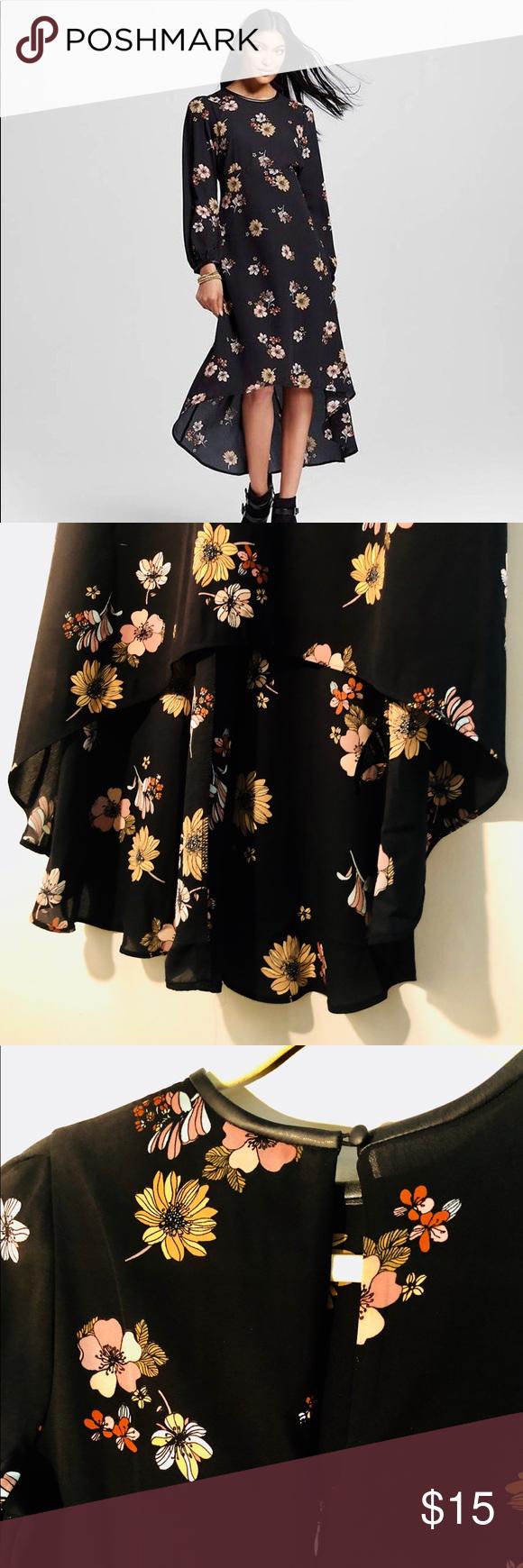 Floral High Low Hem Dress Who What Wear For Target Black Floral Dress With Asymmetric Hemline Long Sleeves And Ke High Low Hem Dresses Target Dresses Dresses [ 1740 x 580 Pixel ]