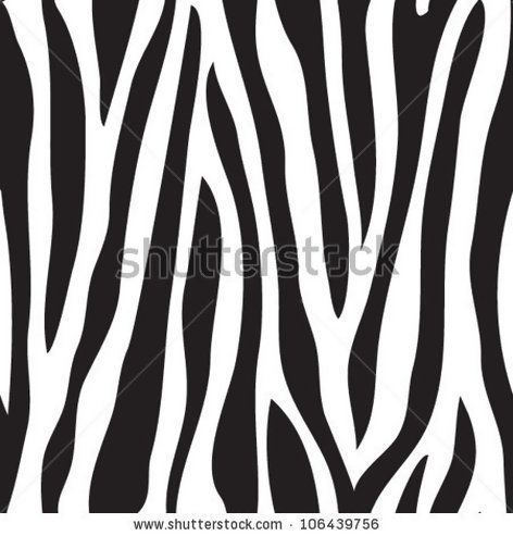 Animal print zebra texture seamless background black and white colors
