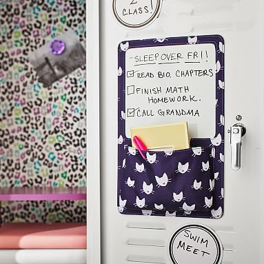 Gear-Up Purple Kitty Dry Erase Pocket #pbteen