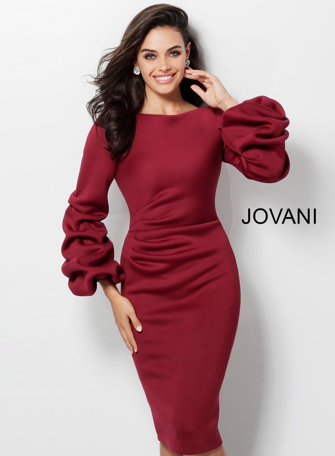 1ede3824 Jovani 63446 Bubble Sleeve Party Dress in 2019 | Graduation dresses ...