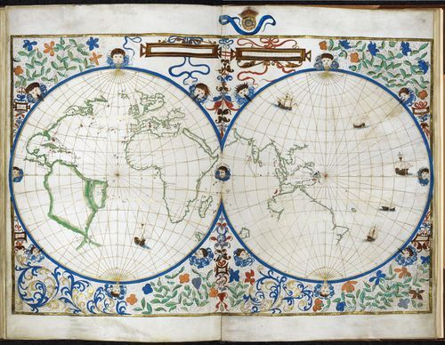 Jean rotz map of the two hemispheres france and england 1542 jean rotz map of the two hemispheres france and england 1542 gumiabroncs Gallery