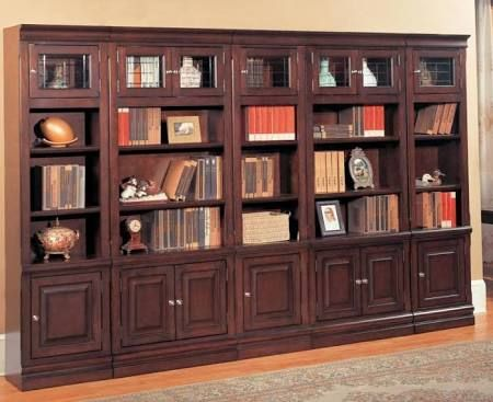 Parker House 5 Pc Library Wall Bookcase Sterling Bookcase Wall