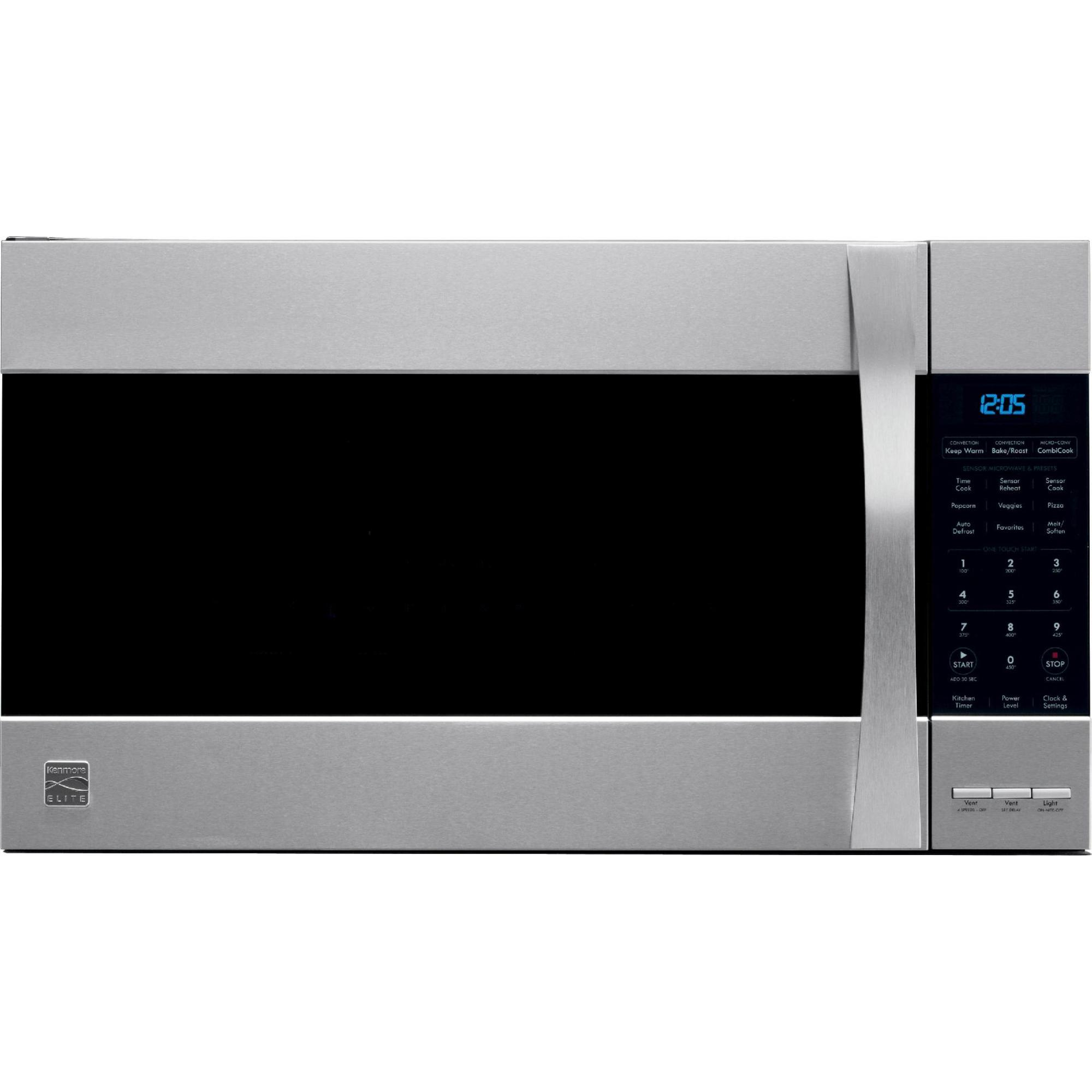 Kenmore Elite 1 8 Cu Ft Over The Range Convection Microwave Better Cooking Flexibilityget D Over The Range Microwaves Kenmore Elite Stainless Steel Microwave
