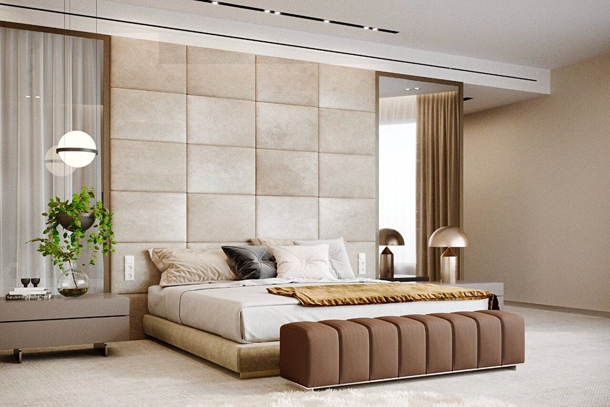 Brusov/Msk/2017 on Behance Tile bedroom, Bedroom wall