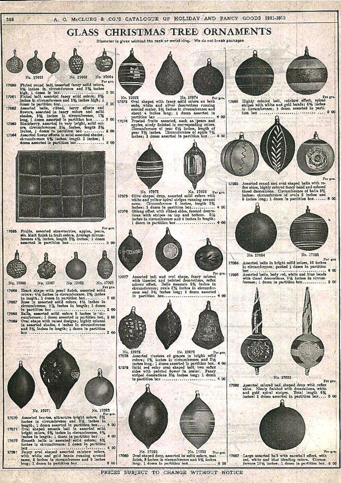 Vintage Christmas Ornaments 1911 A Vintage Christmas Pinterest