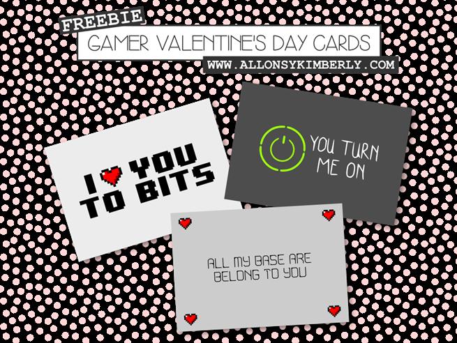 Free Gamer Valentines Day Card Printables – Gamer Valentine Cards