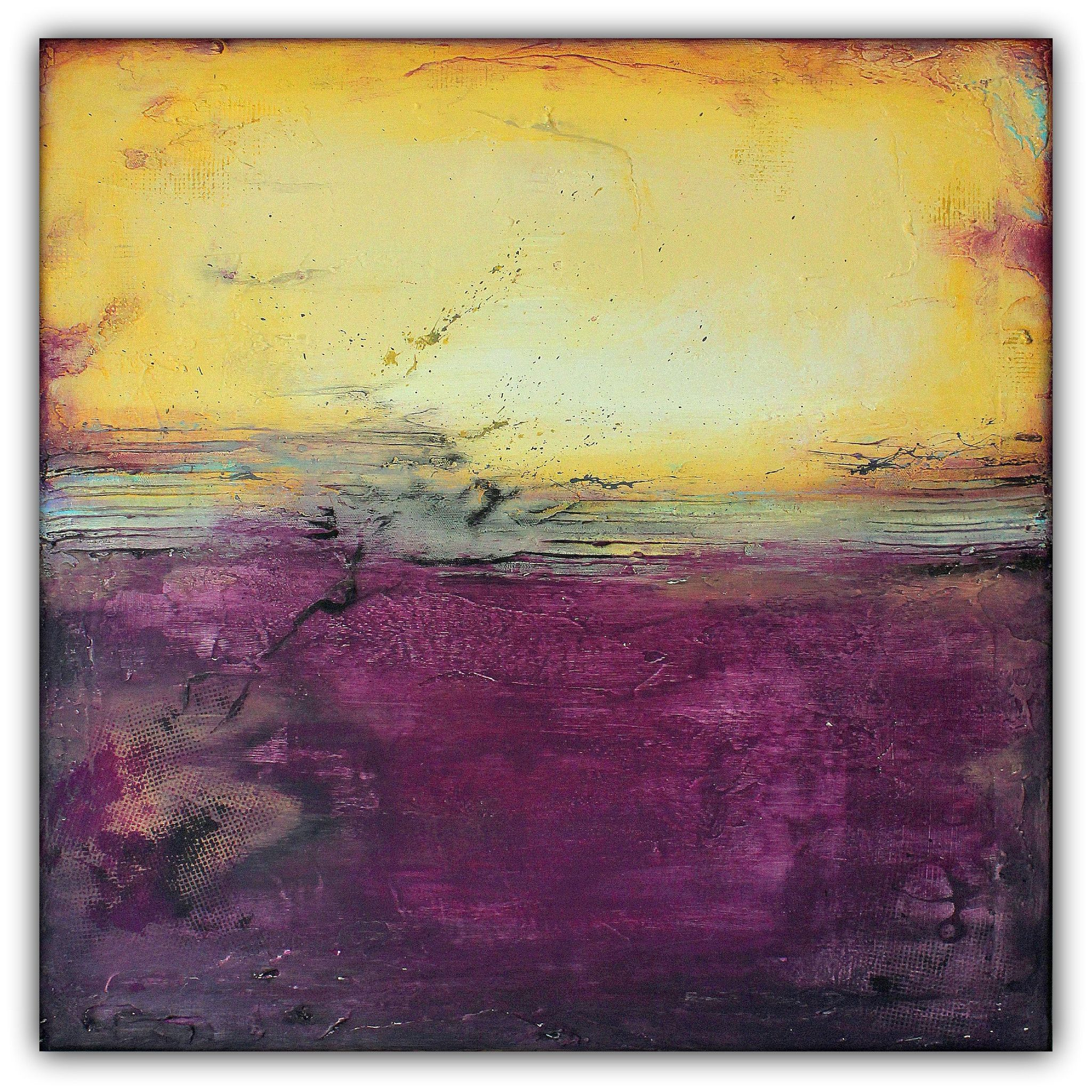 Purple and Gold Abstract Art – Majestic Wall Art – Modern Square ...