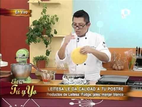 Aprende a preparar un riquísimo mousse de fudge y manjar blanco - YouTube