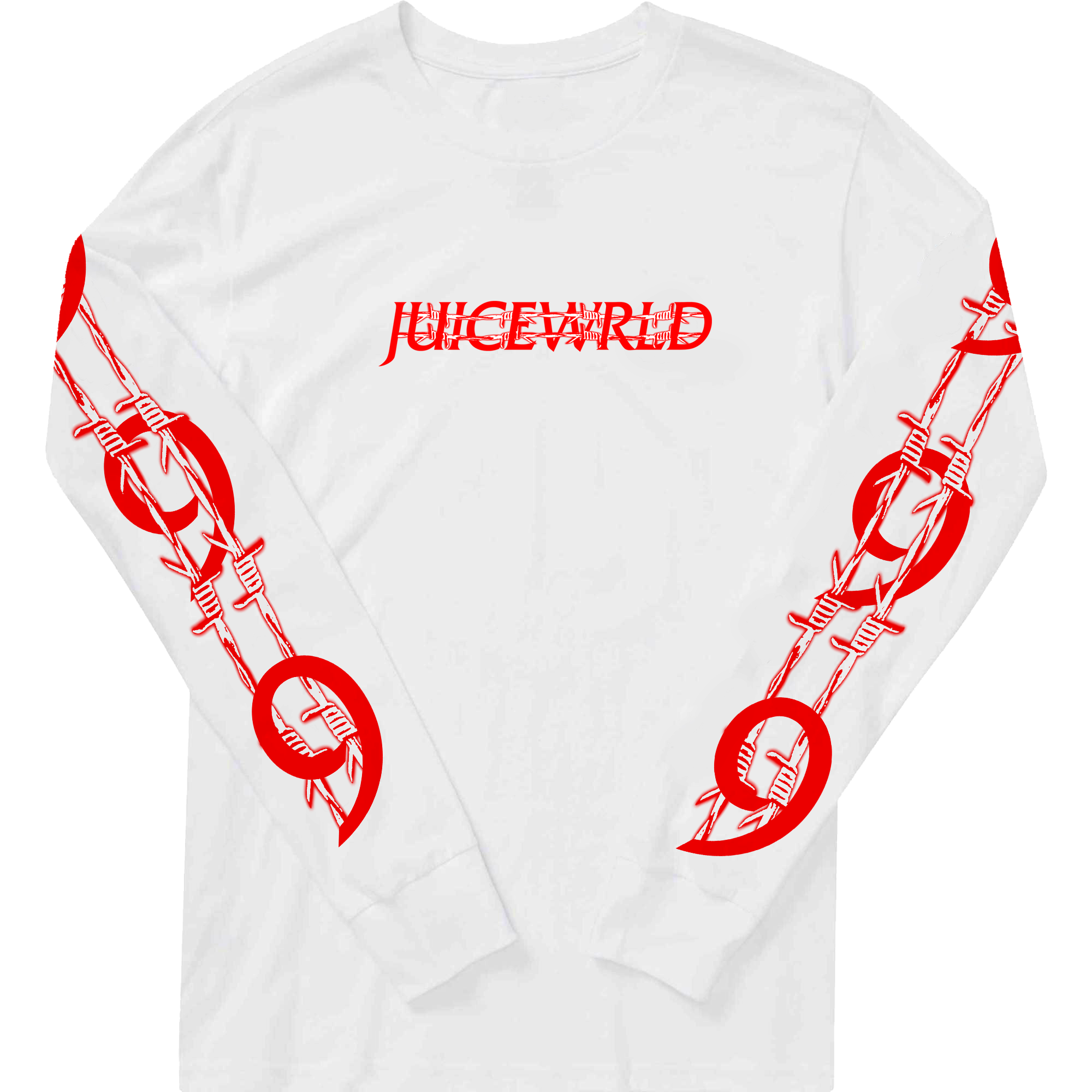 Barbed Wire Juice Wrld Longe Sleeve Three Colors Available Barbed Wire Barbs Sleeves