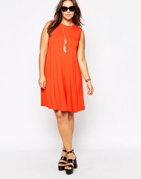 Enlarge ASOS CURVE Sleeveless Swing Dress
