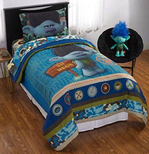 dreamworks trolls branch no more hugs reversible kids bed