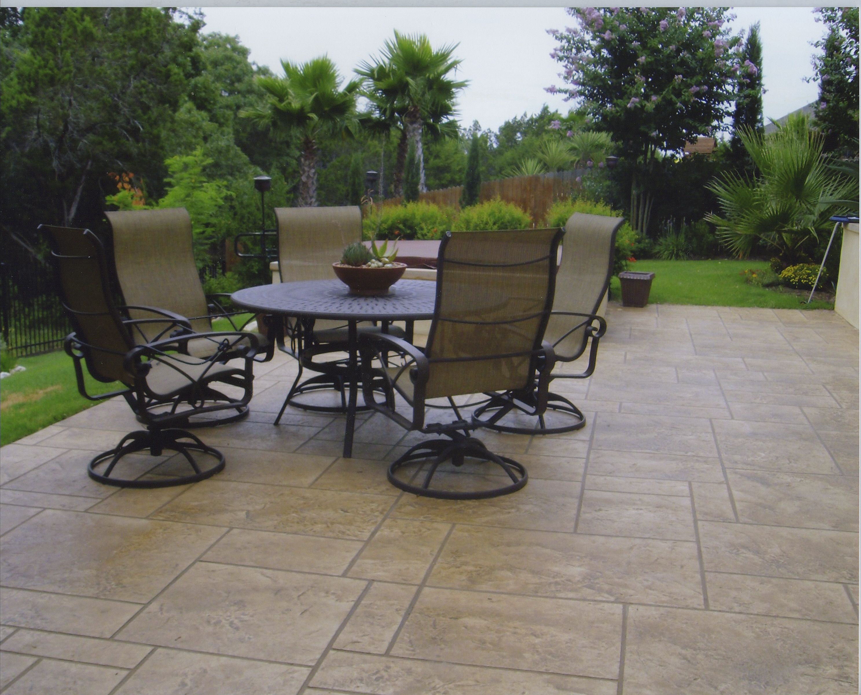 A stamped concrete patio so durable it can withstand the effects