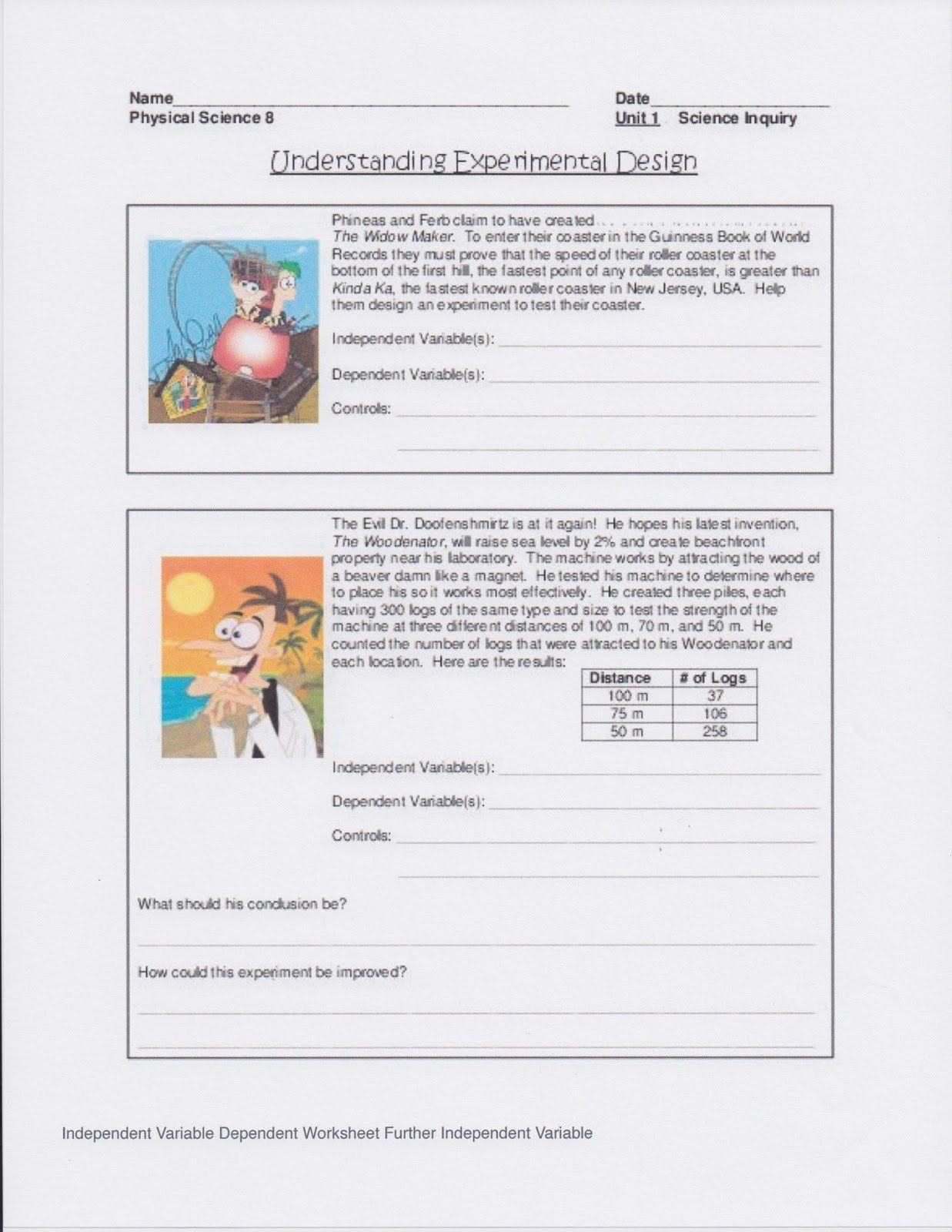 Experimental Design Practice Worksheet Dr Gayden S Chemistry Class Kids Worksheets Printables Letter Worksheets For Preschool Scientific Method Worksheet Free