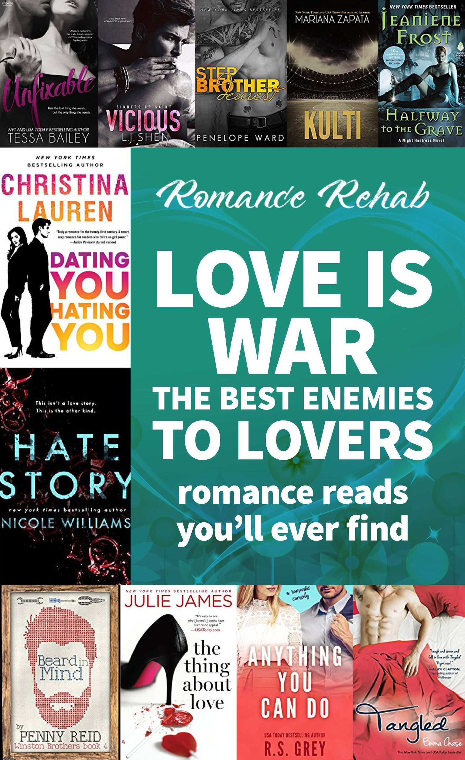 Love Is War The Best Enemies To Lovers Romance Reads You Ll Ever Find Reading Romance Good Romance Books Lovers Romance