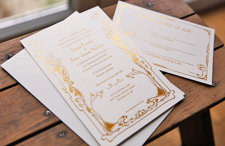 Hot Foil Wedding Invitations by artcadia.co.uk   Artcadia Stationery ...