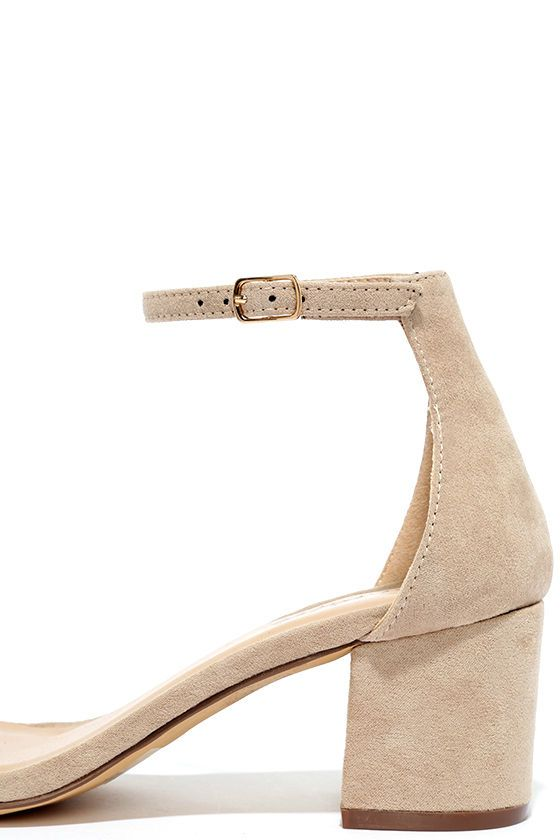 3dfc01258bd There s a version of the Babe Squad Natural Suede Heeled Sandals for every  gal in your group! These versatile vegan suede heels have a minimal upper  with ...