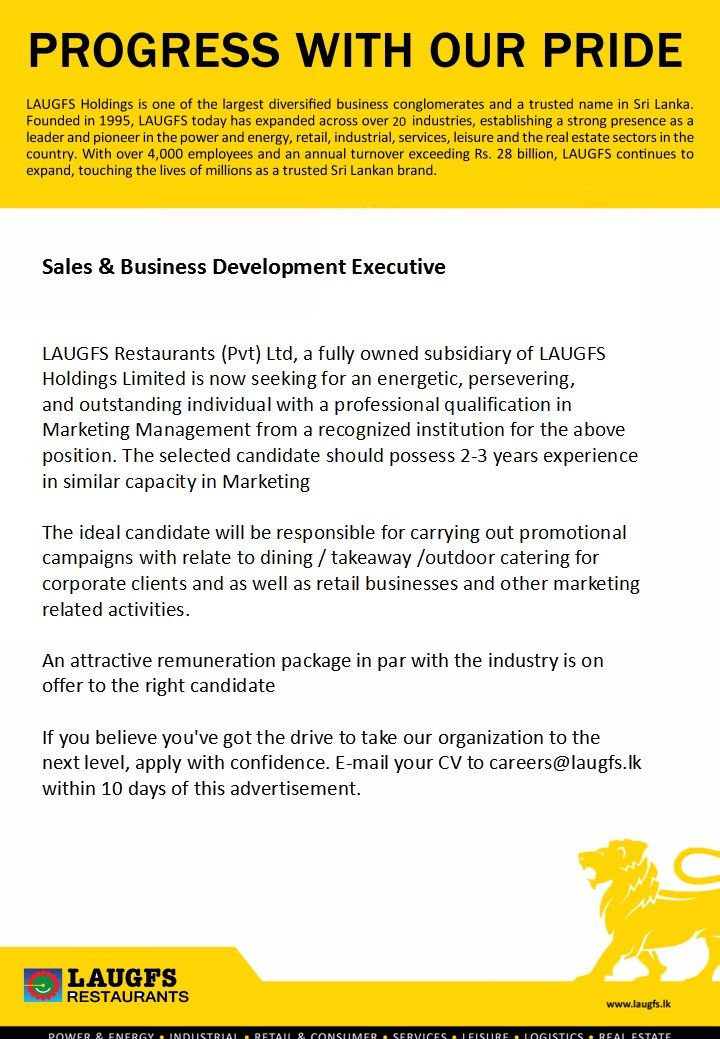 Sales  Business Development Executive At Laugfs Holdings Limited