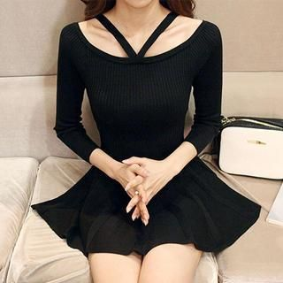Buy 'DABAGIRL – Strap-Shoulder Godet Knit Dress' with Free International Shipping at YesStyle.com. Browse and shop for thousands of Asian fashion items from South Korea and more!
