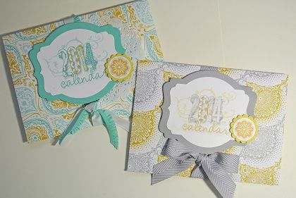 I used the Envelope Punch Board to create the envelopes out of Eastern Elegance designer series paper.  The labels were created on My Digital Studio, then cut out with Deco Labels framelits.  I added a paper doily and ribbon.