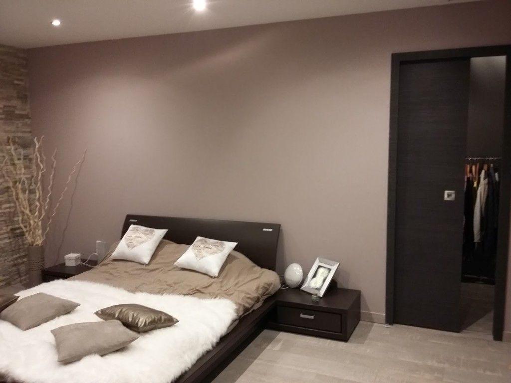 decoration chambre taupe beige | chambre en 2019 | Bedroom, Home ...