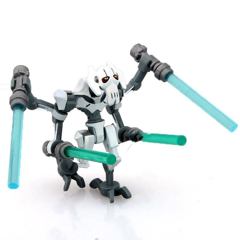 LEGO Star Wars General Grievous Clone Wars minifigure w// 4 Lightsabers minifig